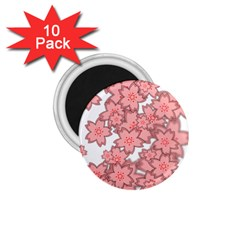 Flower Floral Pink 1 75  Magnets (10 Pack)  by Alisyart