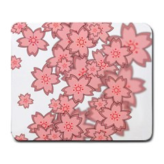 Flower Floral Pink Large Mousepads by Alisyart