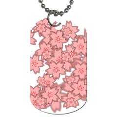 Flower Floral Pink Dog Tag (one Side) by Alisyart