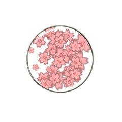 Flower Floral Pink Hat Clip Ball Marker (10 Pack) by Alisyart