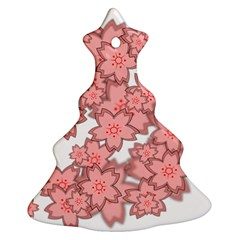 Flower Floral Pink Ornament (christmas Tree)