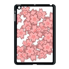 Flower Floral Pink Apple Ipad Mini Case (black)