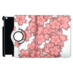 Flower Floral Pink Apple Ipad 3/4 Flip 360 Case by Alisyart