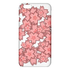 Flower Floral Pink Iphone 6 Plus/6s Plus Tpu Case by Alisyart