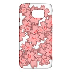 Flower Floral Pink Galaxy S6 by Alisyart