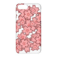 Flower Floral Pink Apple Iphone 7 Plus Hardshell Case