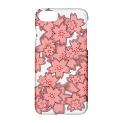 Flower Floral Pink Apple Iphone 7 Hardshell Case by Alisyart