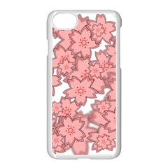 Flower Floral Pink Apple Iphone 7 Seamless Case (white) by Alisyart