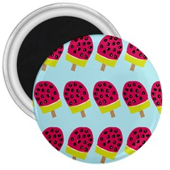 Watermelonn Red Yellow Blue Fruit Ice 3  Magnets by Alisyart