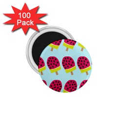 Watermelonn Red Yellow Blue Fruit Ice 1 75  Magnets (100 Pack)  by Alisyart