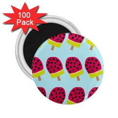 Watermelonn Red Yellow Blue Fruit Ice 2 25  Magnets (100 Pack)