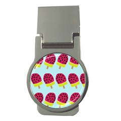 Watermelonn Red Yellow Blue Fruit Ice Money Clips (round)  by Alisyart