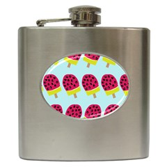 Watermelonn Red Yellow Blue Fruit Ice Hip Flask (6 Oz) by Alisyart