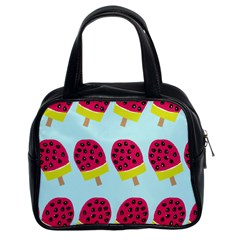Watermelonn Red Yellow Blue Fruit Ice Classic Handbags (2 Sides)