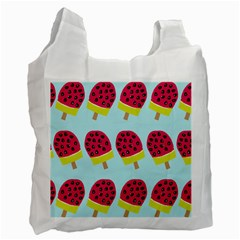 Watermelonn Red Yellow Blue Fruit Ice Recycle Bag (one Side) by Alisyart