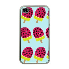 Watermelonn Red Yellow Blue Fruit Ice Apple Iphone 4 Case (clear) by Alisyart