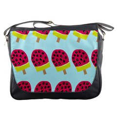 Watermelonn Red Yellow Blue Fruit Ice Messenger Bags by Alisyart