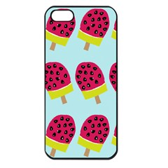 Watermelonn Red Yellow Blue Fruit Ice Apple Iphone 5 Seamless Case (black)