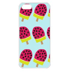 Watermelonn Red Yellow Blue Fruit Ice Apple Iphone 5 Seamless Case (white) by Alisyart