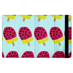Watermelonn Red Yellow Blue Fruit Ice Apple Ipad 3/4 Flip Case by Alisyart