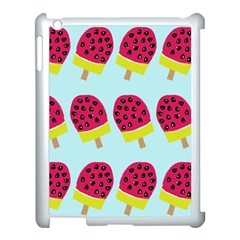Watermelonn Red Yellow Blue Fruit Ice Apple Ipad 3/4 Case (white)
