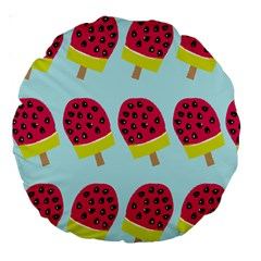 Watermelonn Red Yellow Blue Fruit Ice Large 18  Premium Round Cushions