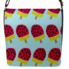 Watermelonn Red Yellow Blue Fruit Ice Flap Messenger Bag (s) by Alisyart