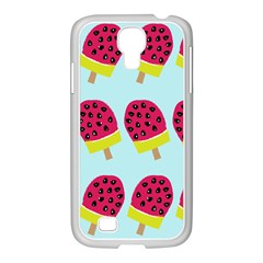 Watermelonn Red Yellow Blue Fruit Ice Samsung Galaxy S4 I9500/ I9505 Case (white) by Alisyart