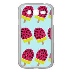 Watermelonn Red Yellow Blue Fruit Ice Samsung Galaxy Grand Duos I9082 Case (white)