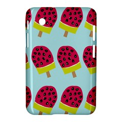 Watermelonn Red Yellow Blue Fruit Ice Samsung Galaxy Tab 2 (7 ) P3100 Hardshell Case  by Alisyart