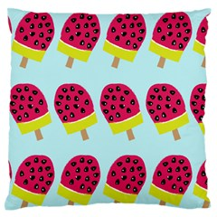 Watermelonn Red Yellow Blue Fruit Ice Large Flano Cushion Case (two Sides)