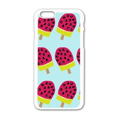 Watermelonn Red Yellow Blue Fruit Ice Apple Iphone 6/6s White Enamel Case by Alisyart