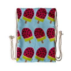 Watermelonn Red Yellow Blue Fruit Ice Drawstring Bag (small) by Alisyart
