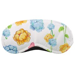 Rose Flower Floral Blue Yellow Gold Butterfly Animals Pink Sleeping Masks