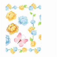 Rose Flower Floral Blue Yellow Gold Butterfly Animals Pink Small Garden Flag (two Sides) by Alisyart