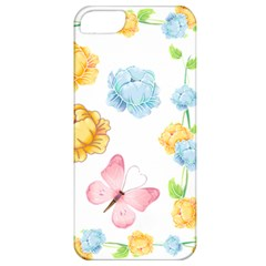 Rose Flower Floral Blue Yellow Gold Butterfly Animals Pink Apple Iphone 5 Classic Hardshell Case