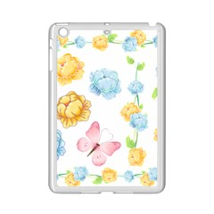 Rose Flower Floral Blue Yellow Gold Butterfly Animals Pink Ipad Mini 2 Enamel Coated Cases