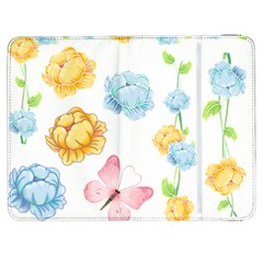 Rose Flower Floral Blue Yellow Gold Butterfly Animals Pink Samsung Galaxy Tab 7  P1000 Flip Case