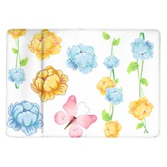 Rose Flower Floral Blue Yellow Gold Butterfly Animals Pink Samsung Galaxy Tab 10 1  P7500 Flip Case