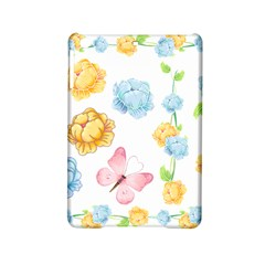 Rose Flower Floral Blue Yellow Gold Butterfly Animals Pink Ipad Mini 2 Hardshell Cases by Alisyart