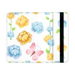 Rose Flower Floral Blue Yellow Gold Butterfly Animals Pink Samsung Galaxy Tab Pro 8 4  Flip Case by Alisyart