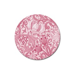 Vintage Style Floral Flower Pink Magnet 3  (round) by Alisyart