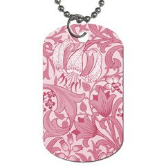 Vintage Style Floral Flower Pink Dog Tag (two Sides) by Alisyart