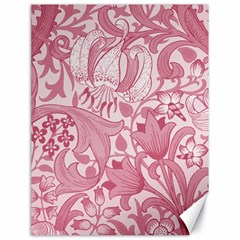 Vintage Style Floral Flower Pink Canvas 18  X 24   by Alisyart