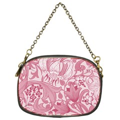 Vintage Style Floral Flower Pink Chain Purses (one Side)  by Alisyart