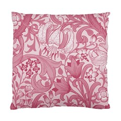 Vintage Style Floral Flower Pink Standard Cushion Case (one Side)