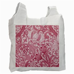 Vintage Style Floral Flower Pink Recycle Bag (one Side) by Alisyart