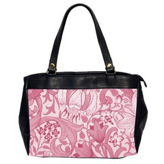 Vintage Style Floral Flower Pink Office Handbags (2 Sides)  by Alisyart