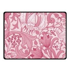 Vintage Style Floral Flower Pink Fleece Blanket (small) by Alisyart