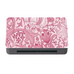 Vintage Style Floral Flower Pink Memory Card Reader With Cf